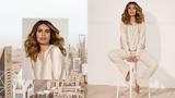 BLONDME Wardah Riyadh Video Model With Wavy Mid-length Blonde Hair