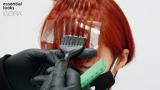 Essential Looks Artful Feeling Auburn Hair Being Coloured By Hairdresser