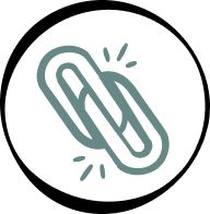 Icon if two connected links