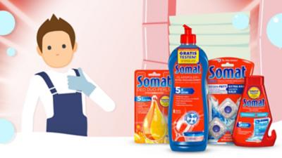 Jetzt Somat Zusatzprodukte gratis testen!