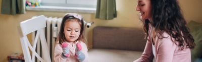 Cleaning with Kids - Fun with Socks