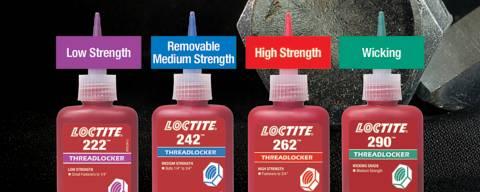 Het verschil tussen rode, blauwe, groene en paarse schroefdraadborgmiddelen