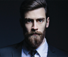 Three male models with elegant hairstyles