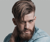 man with full beard and undercut hairstyle