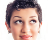 Woman with a pixie cut  hairstyle