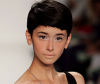 model with elegant short hairstyle