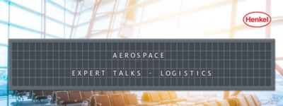 Airport waiting area with departure board showing the name of the article: Aerospace Expert Talks - Logistics
