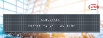 Airport waiting area with departure board showing the name of the article: Aerospace Expert Talks - On Time