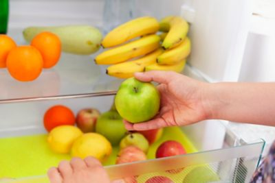 Storing food in kitchen