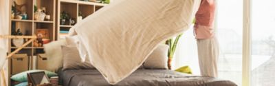 Frische Bettwäsche: Reinigung für Kissen- und Deckenbezüge
