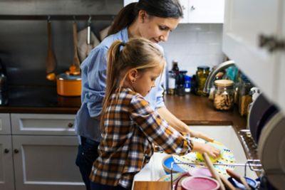 Haushaltsplan für Kinder abwaschen