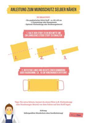 Mundschutz selber machen, Anleitung zum selber basteln von deinem Mundschutz