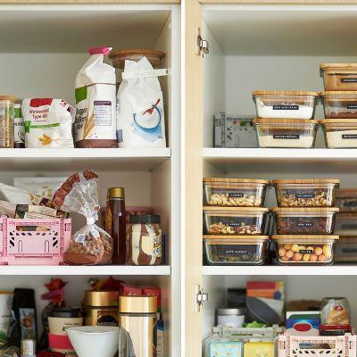 Deine Küche effizienter gestalten – beschriftete Dosen