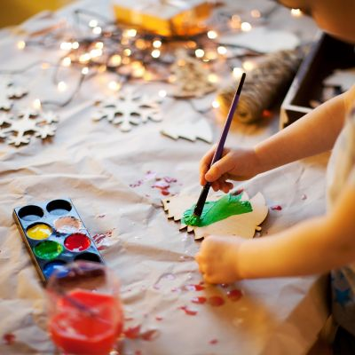 Christmas crafting with kids and family