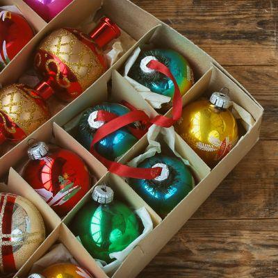 Weihnachtskugeln aufbewahren