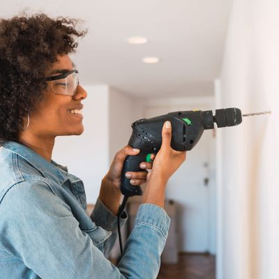How to drill into a wall