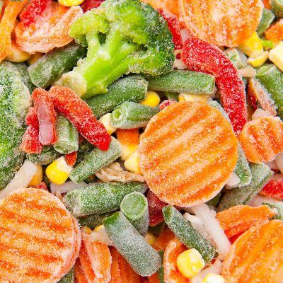 Einfrieren ohne Plastik, gefrorenes Gemüse