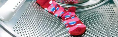 Socke verschwindet in Waschmaschine