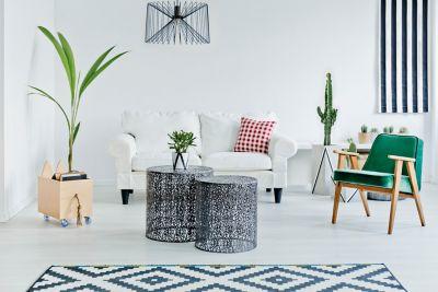 minimalistisch wohnen mit klassisch elegantem Wohnzimmer und einfachen Designelementen
