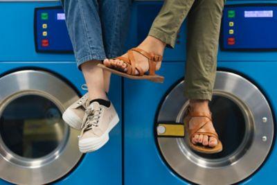Washing shoes
