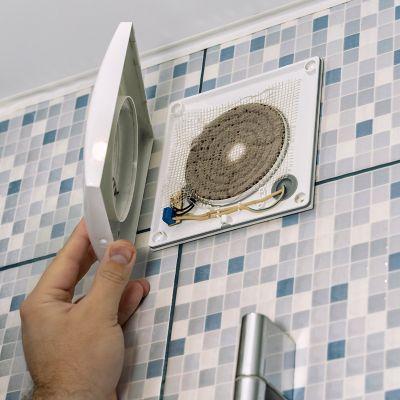 dirty bathroom fan