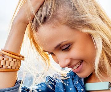 Beautiful Young Blonde Woman Outdoors