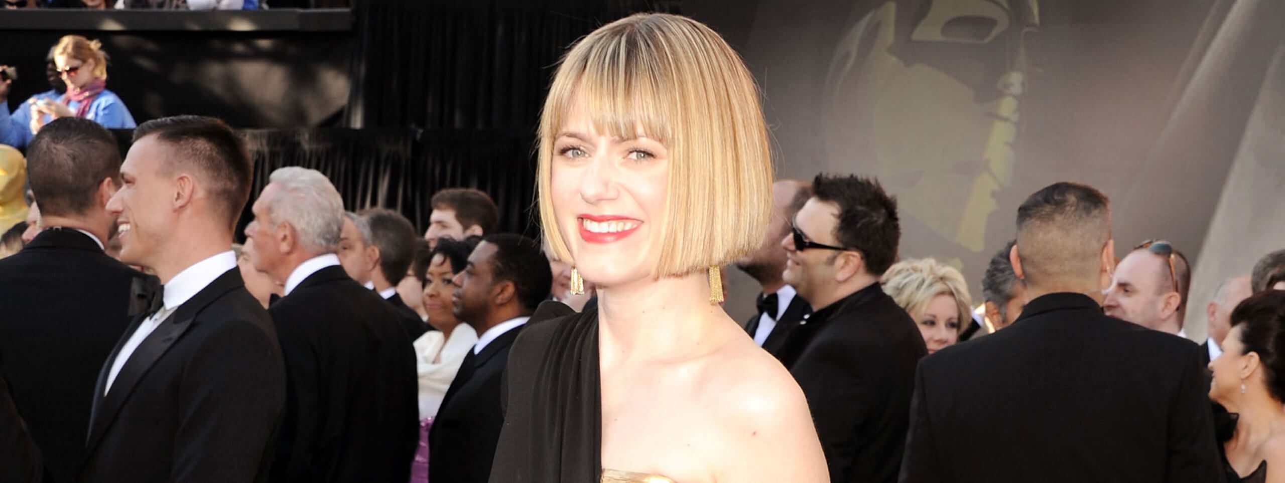 Blonde celebrity with a classic bob hairstyle