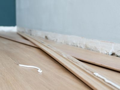 How to remove glue from hardwood floors