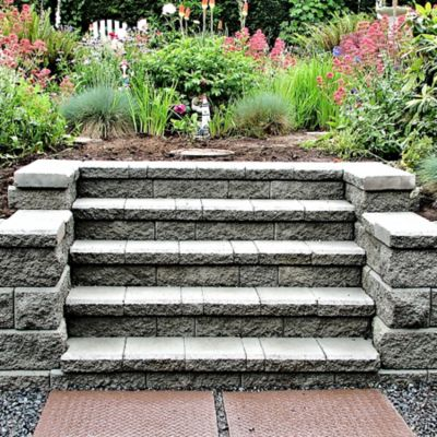 Capping an interlocking block retaining wall