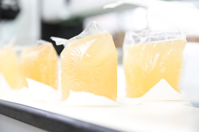 塑料袋中的热熔胶