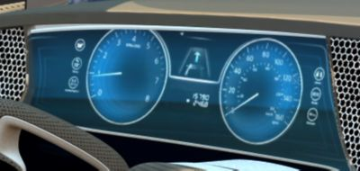 Digitalized information cluster display that not only showing the speed but also prividing car conditions.