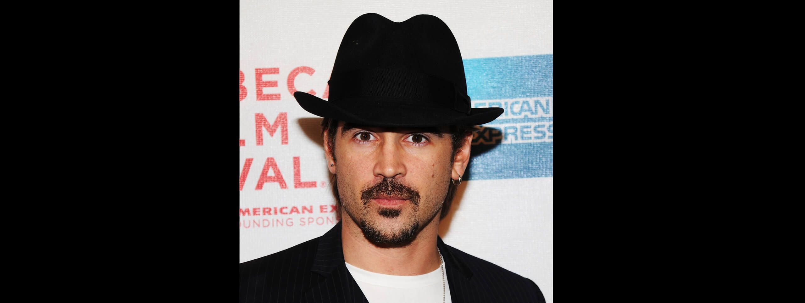 Colin Farrell wearing a hat