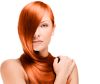 Woman with beautiful red hair color