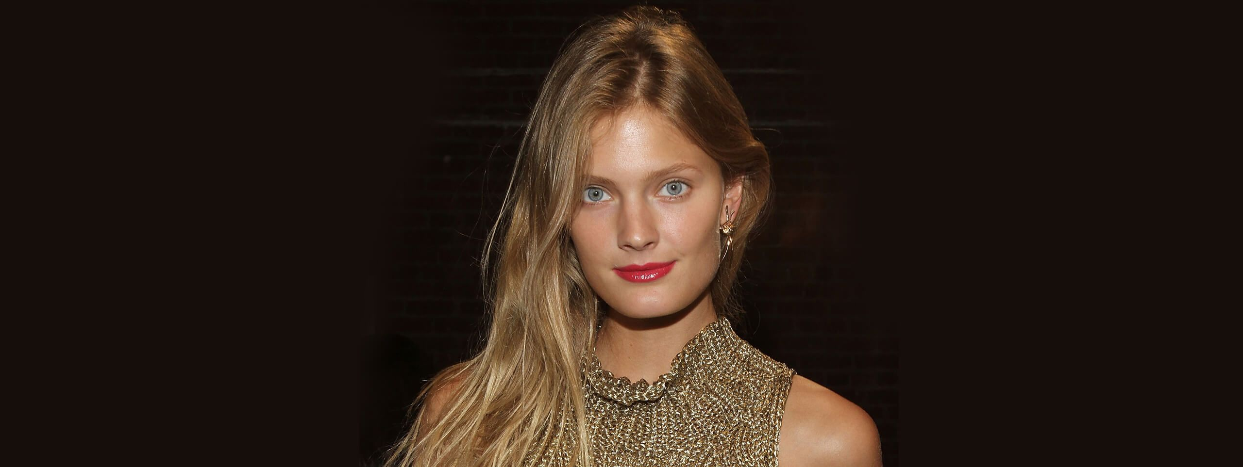 Constance Joblonski with long and shiny hairstyle