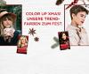 Collage winterliche Haarfarben-Trends