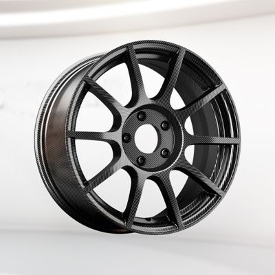 Dark grey, lightweight composite vehicle wheel