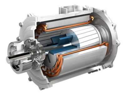 Illustration of Henkel materials in the interior of an electric motor