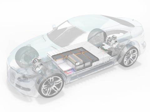 Illustration of power storage system of electric vehicle