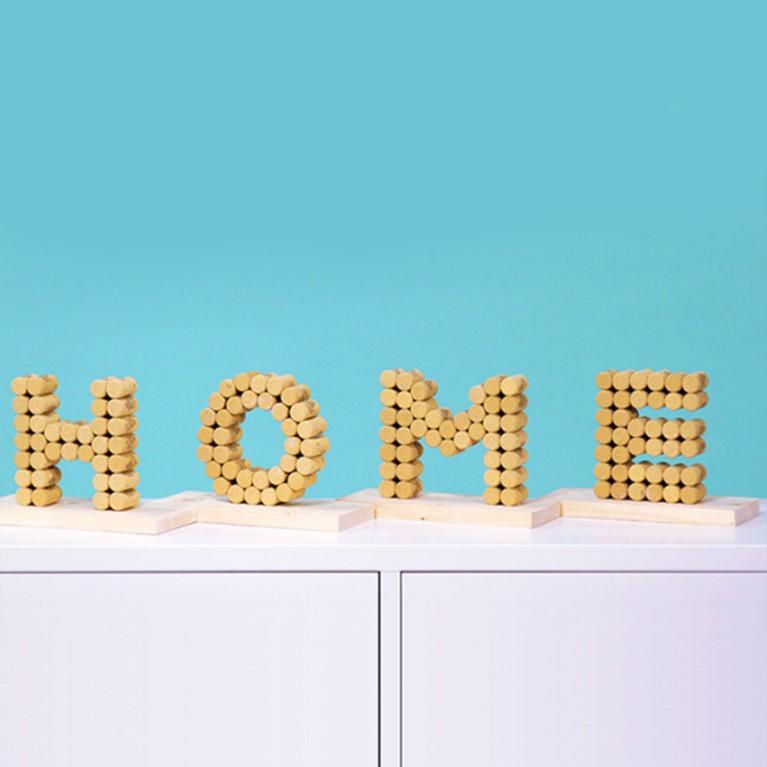 Recyclage des bouchons en liège & lettres décoratives