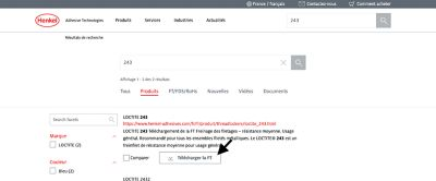 exemple de téléchargement d'une fiche technique