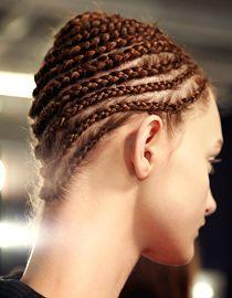 Alexander McQueen braided hairstyles