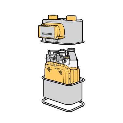 Cutaway of a water meter