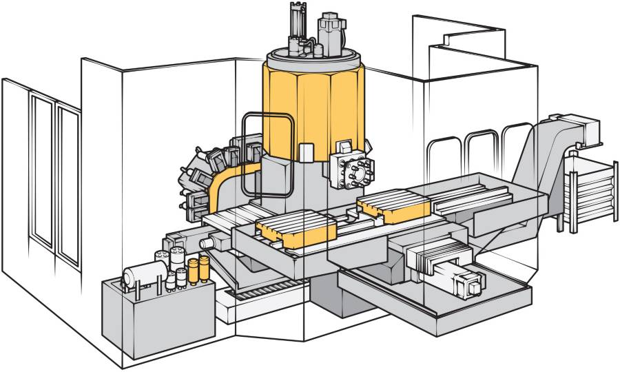 cutaway of machine tools