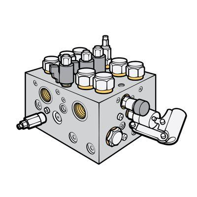 Поперечний переріз клапанів, приводів й арматури