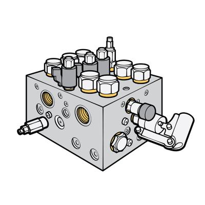 Výrez ventilu, aktuátora, armatúry