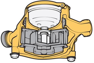 Cutaway of a gas meter