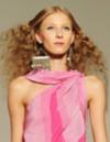 Frisuren für Locken: feine, lange Haare
