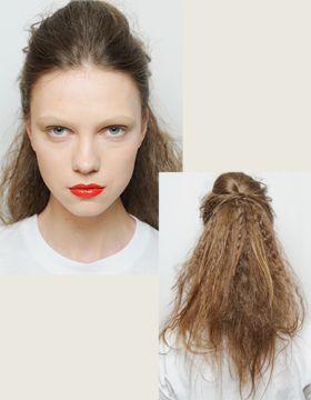 Natapirowane cienkie włosy