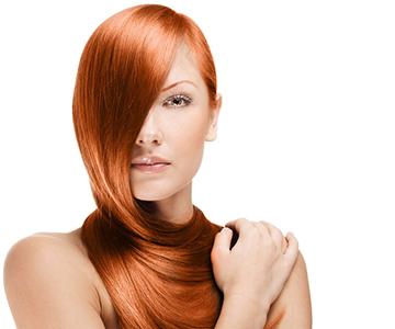 Haarfarbe-auffrischen