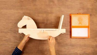 Cómo hacer un caballito de madera